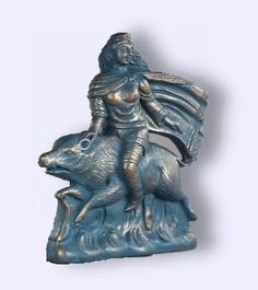 Arduinna was the eponymous goddess of the Ardennes Forest and region, represented as a huntress riding a boar (primarily in the present-day regions of Belgium and Luxembourg). Her cult originated in what is today known as Ardennes, a region of Belgium, Luxembourg and France. She was later assimilated into the Gallo-Roman mythology of goddess Diana.
