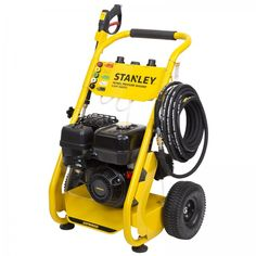 Stanley 3600PSI Petrol Pressure Washer, 2 Year Warranty. The Stanley 4 Stroke 9HP 3600PSI Petrol Pressure Washer is ideal for cleaning your concrete driveway, paved areas, car, motorbike, truck, walls or garden features. It includes a convenient 15m long heavy-duty hose, 5 interchangeable nozzles and twin 800ml detergent bottles which can use the same or different detergents in each. This pressure washer is the perfect tool for any handyman wanting to make cleaning outdoors easier Detergent Bottles, Pressure Washers, Concrete Driveways, Garden Features, Stained Concrete, Water Flow, Brickwork, Mold And Mildew, Outdoor Power Equipment