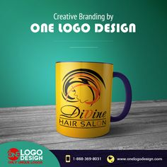 Stunning #LogoDesign for Divine Hair Salon by #OneLogeDesign Experts.Visit our website: http://www.onelogodesign.com/ #Design #Branding #Marketing #GraphicDesign #WebDesign #SocialMediaMarketing #HairSalon #Business