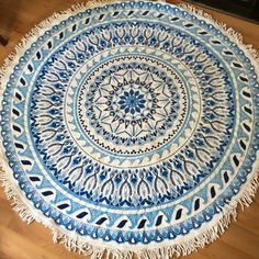 """Round Beach Towel!! 59"""" diam. w/out fringe. 100% Cotton Towel, Has a few small tar stains from the beach, however adds to its natural look! Vagabond Beach Accessories Scarves & Wraps"""
