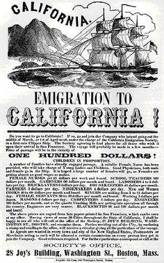 Emigrate to California!