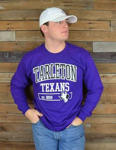 Fall in love with this Tarleton State raid block shirt. Perfect for TSU game day! Go Texans!