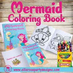 Mermaid Party Printable Favors - great to add to your Mermaid goodie bags Easy DIY printables Birthday Party At Home, Birthday Party Games For Kids, 3rd Birthday, Birthday Ideas, Mermaid Party Favors, Mermaid Parties, Mermaid Under The Sea, Under The Sea Party, Mermaid Coloring Book