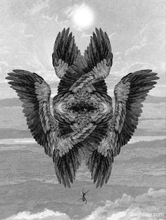 Abstract Occult Esoteric Symbolism Feathers