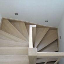T49a - Halvsvingstrappe, egetræ med hvid olie og mat lak, balustre B6, håndliste H6. Timber Stair, Wooden Stairs, Loft, Bedroom, Inspiration, Ideas, Home Decor, Wooden Ladders, Biblical Inspiration