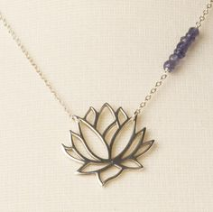 Best Gifts for the Yoga Lovers in Your Life: Blooming Lotus Necklace