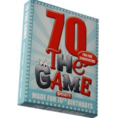 The 70th Birthday Game is a new card game designed especially for 70th birthdays. If you need a unique and cheery 70th birthday gift then look no further! This is just the thing! And you don't just ge