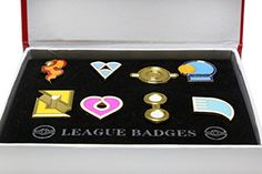 Accessorize your Ash Ketchun attire with these Ash Gym Badges  (collection of 8 badges) - #PokemonGoTrainerCostumes #TeamRocketCostumes
