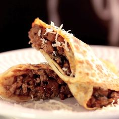 Flavorful ground beef rolled into pancakes make a comforting meal.