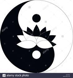 Stock Vector – lotus flower in Yin Yang symbol black and white Stock Vector – Lotusblume in Yin Yang Symbol schwarz und weiß, Realistic Flower Tattoo, Flower Tattoo Foot, Small Flower Tattoos, Cute Small Tattoos, Arte Yin Yang, Ying Y Yang, Yin Yang Art, Yin And Yang, Yin Yang Tattoos