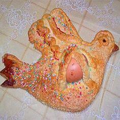 Pupu cu l'ovu (aceddu cu l'ovu) | Dolci Siciliani #easter #sicily #ovu #eggs #tradition #food #typical #food