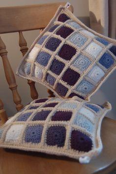 Contemporary Granny Square Crochet Cushions