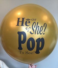 Gold Gender Reveal Balloon by BabyGlimpses on Etsy