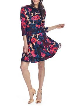 Donna+Morgan+Print+Scuba+Fit+&+Flare+Dress+available+at+#Nordstrom