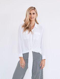 Mela Purdie Tie Overshirt Tie, Lifestyle, Women, Fashion, Moda, Fashion Styles, Cravat Tie, Ties, Fashion Illustrations