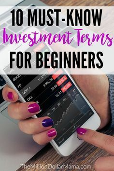 10 Investment Terms for Beginners 4 Must-Read Investing Books - Stock Market For Beginners Learning - Ideas of Stock Market For Beginners Learning - Investing for beginners- here are ten must-know investment terms for those who are new to investing Stock Market Investing, Investing In Stocks, Investing Money, Saving Money, Saving Tips, Stocks For Beginners, Stock Market For Beginners, Dividend Investing, Investment Advice