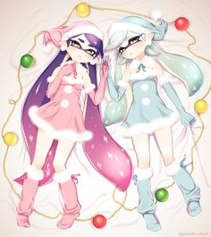 Merry X'mas! by ぷち #SquidSisters #Callie #Marie