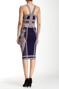 Wow Couture 2-Piece Printed Bandage Dress Set
