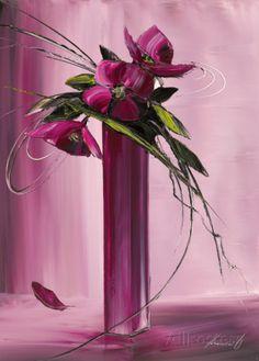 Bouquet Violet I Poster von Olivier Tramoni bei AllPosters.de
