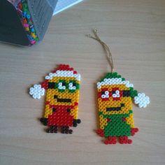 Christmas Minions hama perler beads