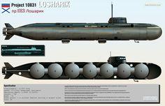 [OC]Cutaway of Russian 'Losharik' spy sub -see comments for explanation[3500x2255] - www.hisutton.com