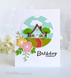 Summer Birthday Wishes Card by Kay Miller for Papertrey Ink (November 2015)