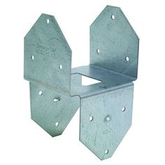 Simpson Strong-Tie - Double Post Cap/Base Z-Max - Designed to greatly increase both lateral and uplift strength, this galvanized steel design is stronger and more secure than regular toe-nailing. Column Base, Camper Hacks, Wood Joints, Post And Beam, Steel Structure, Sheet Metal, Home Depot, Beams, Wood Projects