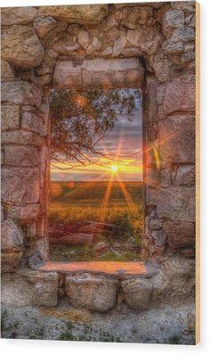Through The Bedroom Window Wood Print by Thomas Zimmerman