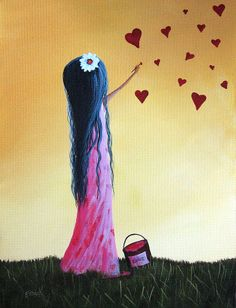 How She Says I Love You by Shawna Erback Painting