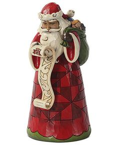Jim Shore Collectible Figurine, Santa with List and Bag of Toys - Holiday Decor - Holiday Lane - Macy's