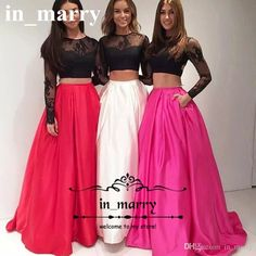 Two Pieces Red Black 2K17 African Prom Dresses 2017 A Line Long Sleeves Sexy Back Plus Size Girls Graduation Formal Evening Party Gowns 2016 Prom Dresses Long Prom Dresses Prom Party Dresses Online with $179.43/Piece on In_marry's Store   DHgate.com