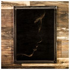"""Femininity isthe perfect example of restraint. Minimal marks... minimal lines... maximum impact.    Made-To-Order    Made from oak that has each been sanded smooth and painted, the image is created by ripping away the pigment, leaving the beautiful texture of the wood undisturbed.    The frame is welded 1-1/4"""" steel angle, with a light grinding, for a very industrial feel.    As each piece of wood I use has it's own grain pattern, yours will be slightly different from what's pictured…"""