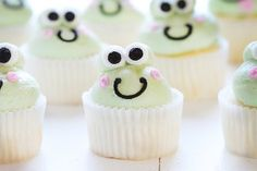 These sweet little frog inspired cupcakes are made from buttercream and the very best vanilla cupcakes! These frog cupcakes were suggested by (ok, they flat out begged) my kids. We had fun figuring out a way to do them that was easy but still looked like a frog. You do NOT want to see the very first