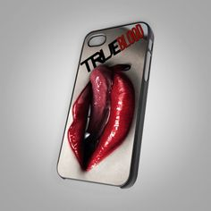 True Blood Vampire Logo - For IPhone 4 or 4S Black Case Cover