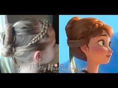 Anna's Coronation Hairstyle from Disney's FROZEN - by Pretty Hair is Fun.