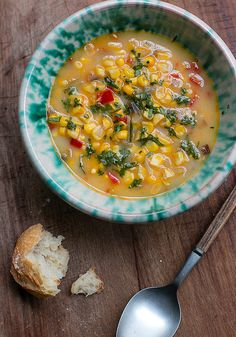 corn soup recipe by David Lebovitz