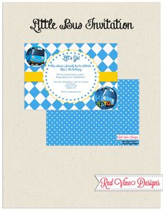 Little Bus Invitation by DesignsRedVine on Etsy