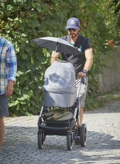 Prince Carl Philip baby-sitting Alexander, while mum is at work.