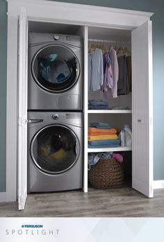 A shallower depth on Whirlpool® Hybridcare™ laundry also provides a space-saving design, allowing this compact front load washer to be installed just about anywhere.