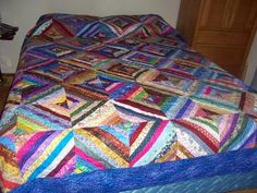 Pictures of String Quilts and Crumb Quilts: String Pieced Wedding Quilt