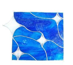 Stained glass abstract panel Starry Starry Night by Nostalgianmore, $75.00
