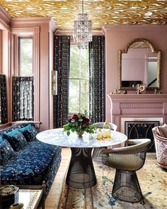 We at ASI are huge fans of the conversation table. Curl up w coffee, play a card game. Yes!!!!! … to pairing comfortable seating around a tea height table! Repost From: @chairishco Project By: @cameron_ruppert_interiors 📸: @stacyzaringoldberg #thevibrantinterior #andreaschumacherinteriordesigner #denverinteriordesigner #santabarbarainteriordesigner #palmbeachinteriordesigner Hexagon House, Wallpaper Ceiling, Ceiling Height, Living Room Inspiration, Restaurant Design, Living Spaces, House Design, Table Decorations, Interior Design