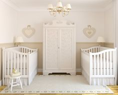 Love the idea of sharing an armoire for twins.
