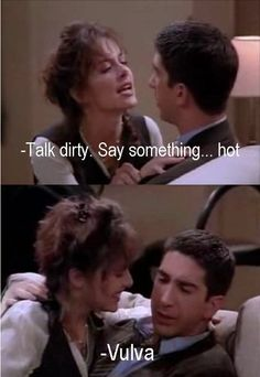 Ross' idea of dirty talk...