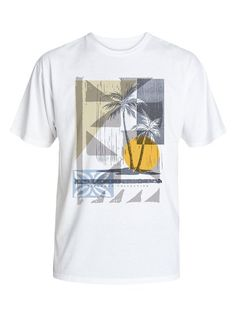 quiksilver, Men's Getaway T-Shirt, Bright White Buy T Shirts Online, Smart Casual Men, White Shirt Men, Boys Summer Outfits, Custom T Shirt Printing, Beach Shirts, Casual T Shirts, Mens Tees, Shirt Style