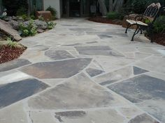 Sugarloaf Slabs laid to create a unique look for your walkway.