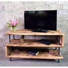 Furniture Pipeline Tuscan Modern Industrial TV Stand