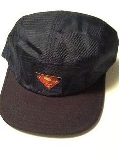 size 40 52b3a 2ec42 Superman Hat Cap Blue Polo Style Snapback COMICS COSTUME COSPLAY DC Comics  Hat  Bioworld  BaseballCap