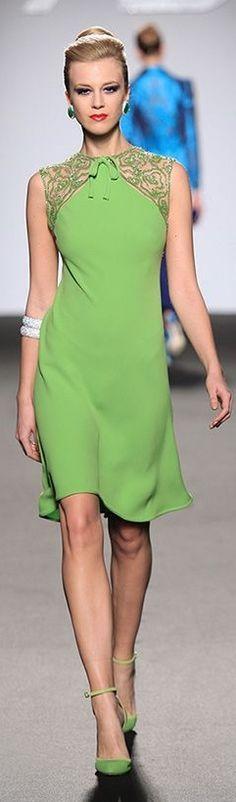 @roressclothes clothing ideas #women fashion green dress Balestra ❤ Gorgeous fashion