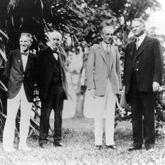 President Herbert Hoover, Henry Ford, Thomas Edison and Harvey Firestone at Edison's 82nd birthday party in Fort Meyers, Florida February 11, 1929.